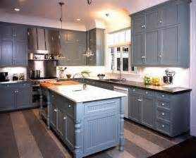 Grey Blue Kitchen Cabinets by Kitchens Gray Blue Shaker Kitchen Cabinets Black Granite