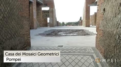 regio i insula xi domus del tempio rotondo i xi 2 3 scavi di pompei riapre al pubblico la domus mosaici