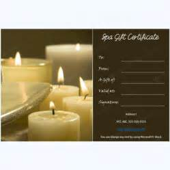 Spa Gift Certificate Template by Gift Certificate 02 Word Layouts