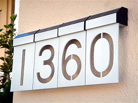 House Address Numbers by Solar Power 171 Gadget Gizmoo