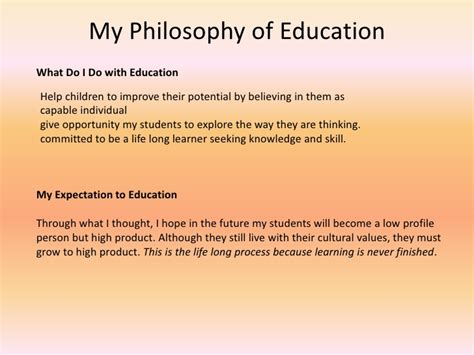 My Philosophy Of Education Essay by Image Gallery My Philosophy