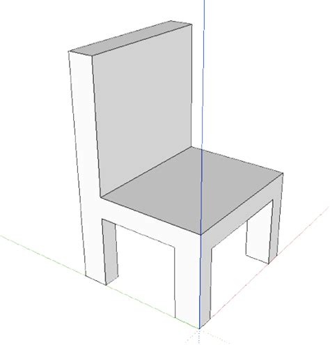 How To Draw A Chair by Sketchup Cedar Computer Classes