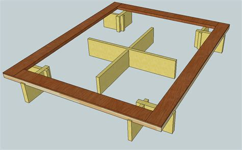 Building A Platform Bed Frame Make Platform Bed Frame Autos Post