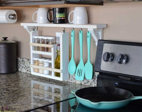 Kitchen Countertop Shelf Kitchen Backsplash Shelf And Organizer Tool Belt