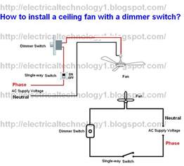 Installing Ceiling Fan Wiring How To Install Ceiling Fan With A Dimmer Switch Part 1