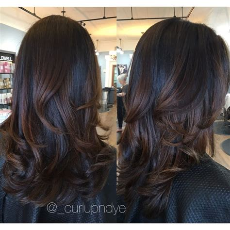 brunettes dramatic hair image result for dark brown balayage ɓeauty pinterest