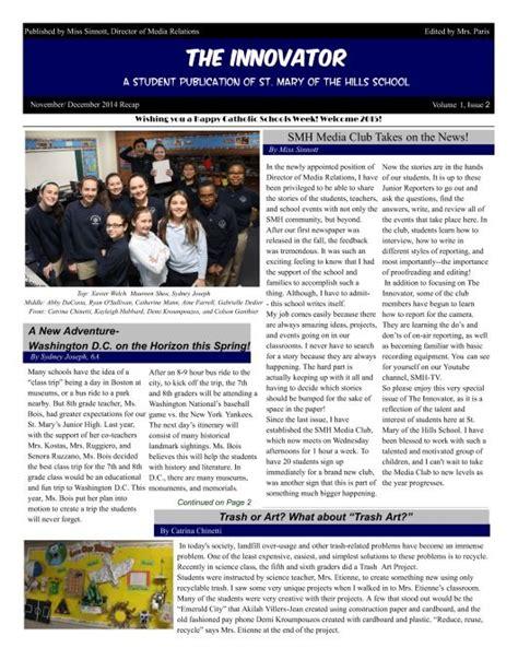 newspaper newsletter template 7 best school newsletter templates images on