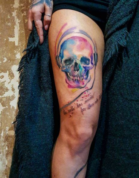 watercolor tattoo sverige 120 best skull tattoos images on