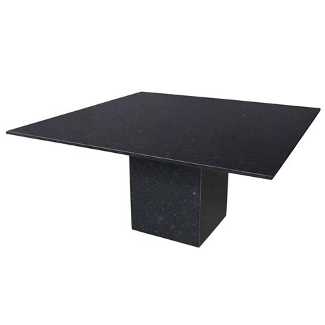 Black Granite Top Dining Table Minimalist Italian Black Granite Pedestal Dining Table At 1stdibs