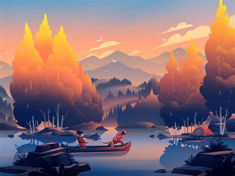 digital art  atmospheric illustrations  nature