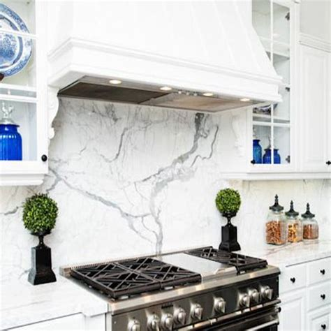 Kitchen Backsplash Ceramic Tile backsplash from calacatta borghini italian marble