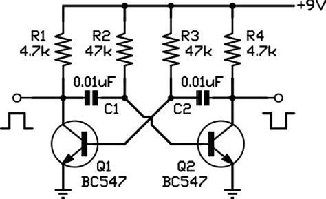 darlington transistor oscillator 9 two phase squarewave oscillator darrenyates au electronics