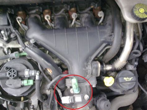 where is peugeot where is the map sensor located on a 51 plate peugeot 307 2 0