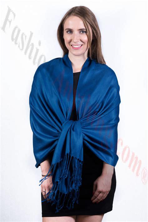 Silky Pashmina 1 silky soft solid pashmina scarf ultramarine