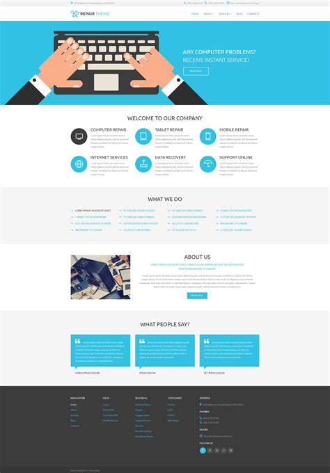 Computer Repair Psd Template 55902 Services Page Template
