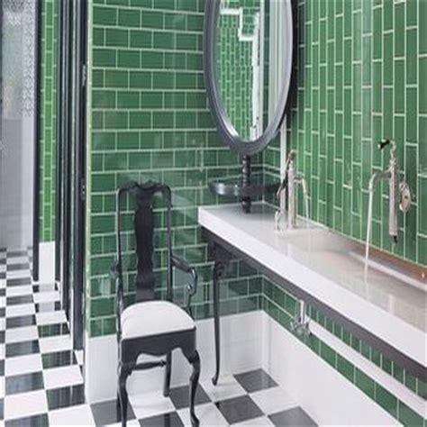 kelly green bathroom subway tile backsplash design decor photos pictures