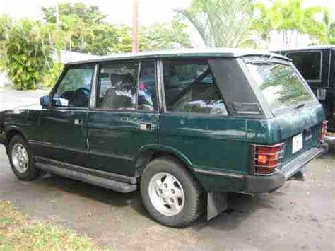 how to fix cars 1995 chevrolet s10 spare parts catalogs buy used 1995 range rover classic lwb for spare or repair in pompano beach florida united states