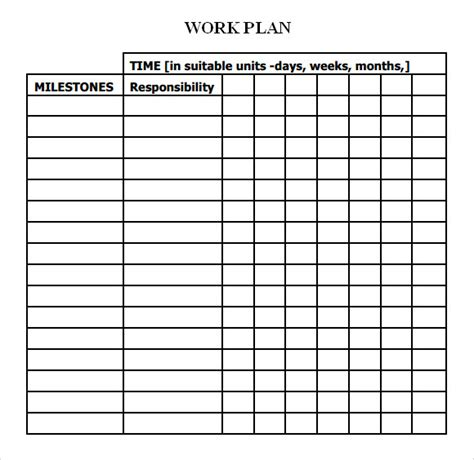 18 Sle Work Plan Templates To Download Sle Templates Project Work Plan Template