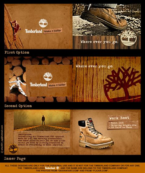 role reversal photography kristina sinutko s timberland brochure concept by sherifshaaban deviantart