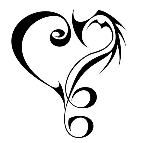Tattoo Love Tribal | 20 beautiful tribal heart tattoos only tribal