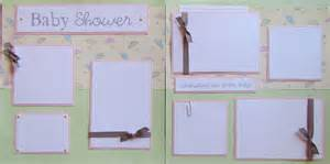 baby shower 12x12 premade scrapbook pages by
