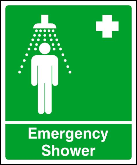 Safety Showers Regulations Uk by Aid Emergency Shower Safety Sign