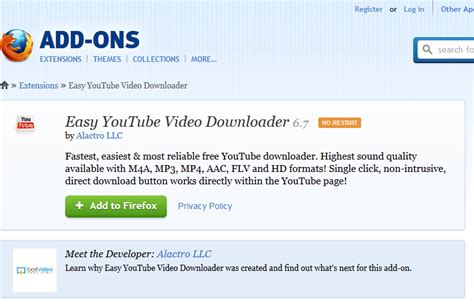 download youtube addon firefox addon youtube downloader for mozilla firefox