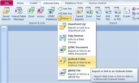 Link Calendar To Outlook Link Microsoft Access Databases To Microsoft Outlook Inbox