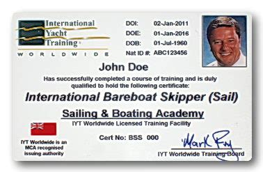 charter boat licence international bareboat charter certification sailing
