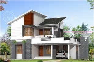 modern villa house plans 1878 sq free floor plan and elevation kerala home