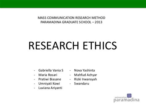 Set Yashinta by Research Ethics