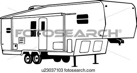 Painting 5th Wheel Trailer by Fifth Wheel Cer Clip Sketch Coloring Page 5th