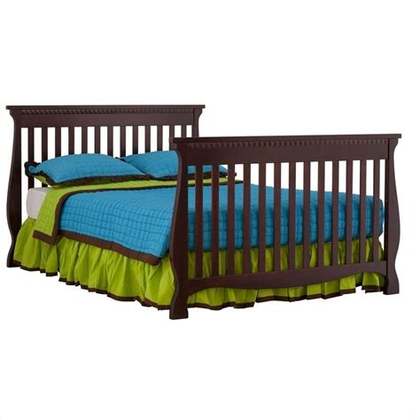 Fixed Side Convertible Crib 4 In 1 Fixed Side Convertible Crib In Cherry 04587 134