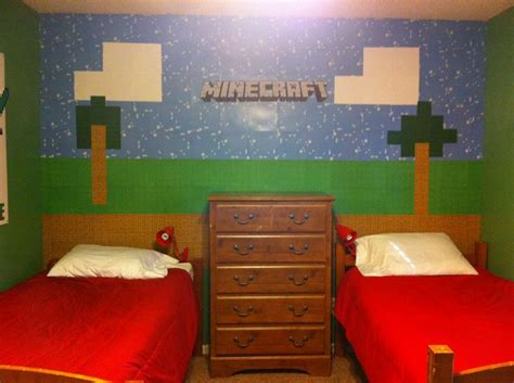 minecraft theme bedroom my kids minecraft room kids pinterest