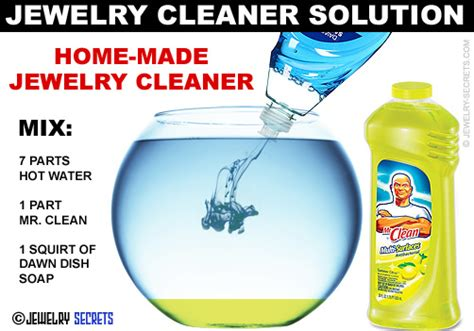 how to make jewelry cleaner at home jewelry cleaner solution jewelry secrets