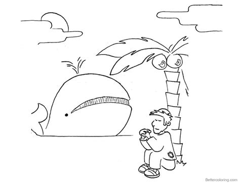 jonah coloring pages jonah and the whale coloring pages jonah sit tree