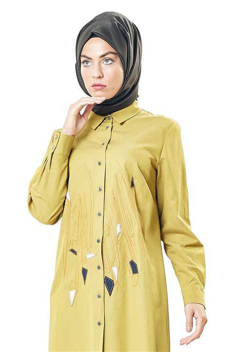 Blouse Yuka Atasan Fashion Tunik 1 kayra nakış detaylı tunik haki ka b7 21002 21 e tesett 252 r