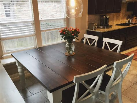 Farmhouse Style Kitchen Table by Square Baluster Table In Farmhouse Style Kitchen With X