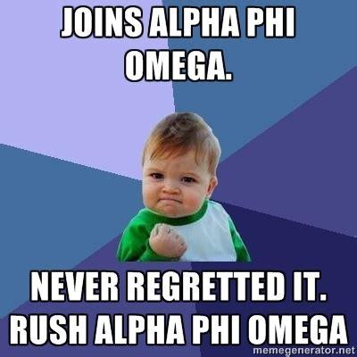 Rush Meme - rush alpha phi omega that funny thing i found