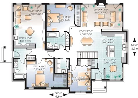 in suite house plan 21768dr 1st floor master suite