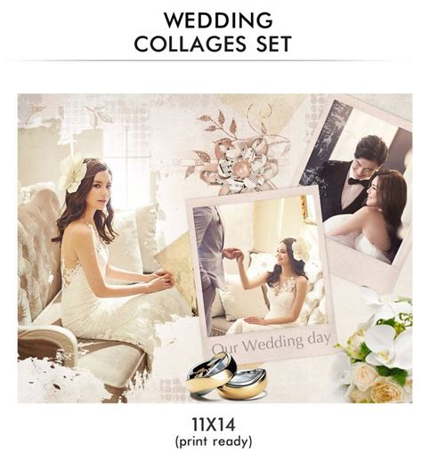 wedding collage template 17 best images about wedding collages set just married