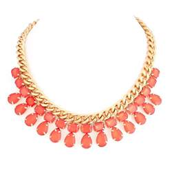 coral colored necklace fw1404420 coral color gold choer necklace