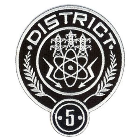 Hunger District 5 hunger district 5 embroidered 4 quot patch scifi geeks