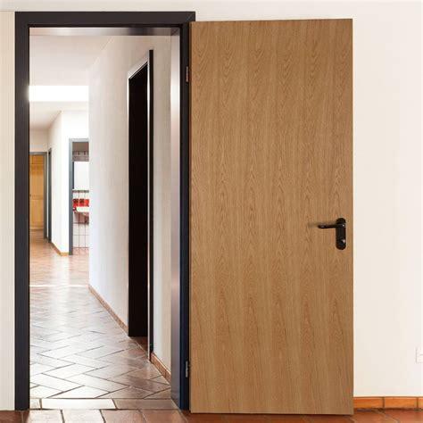 Interior Door Handles For Homes Flush Oak Veneer Fire Door Pre Finished 1 2 Hour Fire Rated