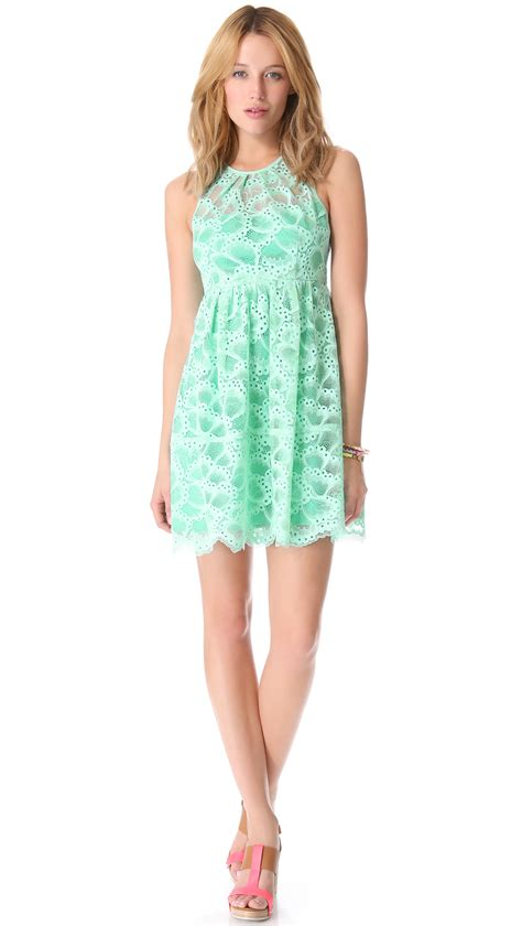 nanette lepore nanette lepore secret escape dress in green mint lyst