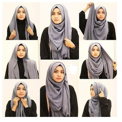 tutorial hijab bercadar 38 model tutorial hijab segi empat modis simple 2018
