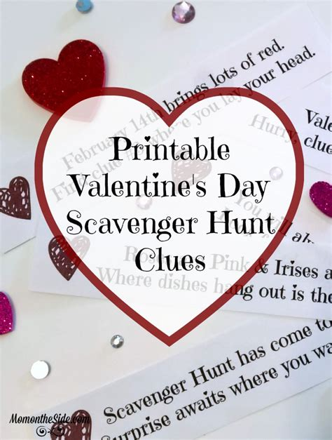 valentines scavenger hunt clues s day scavenger hunt clues printable on