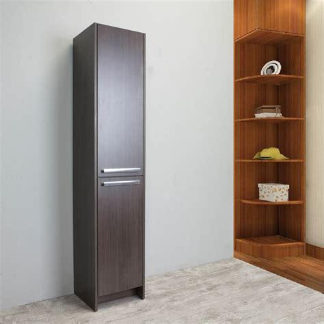 side of cabinet storage eviva lugano 16 quot grey oakmodern bathroom linen side