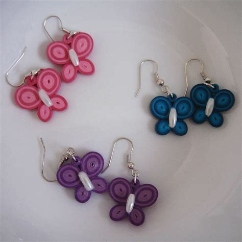 quilling tutorial earrings quilling butterfly earrings diy pinterest quilling