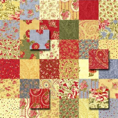 Rag Quilt Squares by Moda Portugal Charm Pack Quilt Kit Fabric Squares Quilt